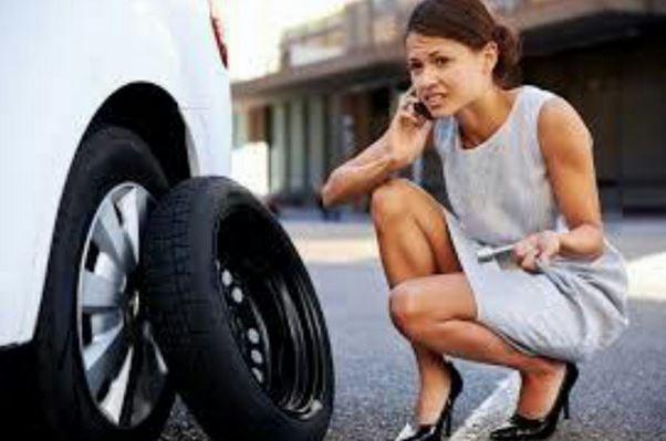 change a tire